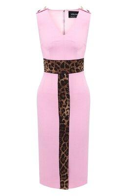 Платье из шерсти и вискозы Dolce&Gabbana J6094Z/FU2TZ