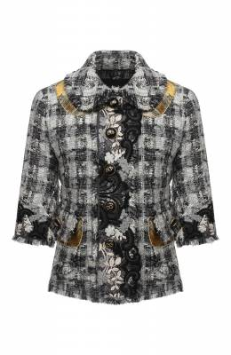 Твидовый жакет Dolce&Gabbana J2AARZ/FQMHE
