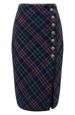 Шерстяная юбка Saint Laurent 640041/Y7B89