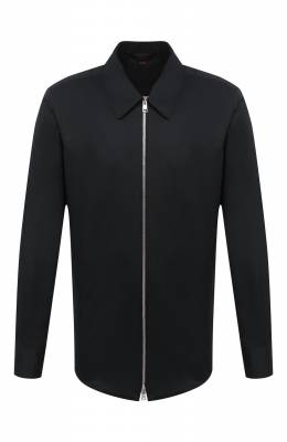 Хлопковая рубашка Zegna Couture 802134/9NGBNT