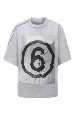 Хлопковая футболка Mm6 Maison Margiela S32GC0582/S23588