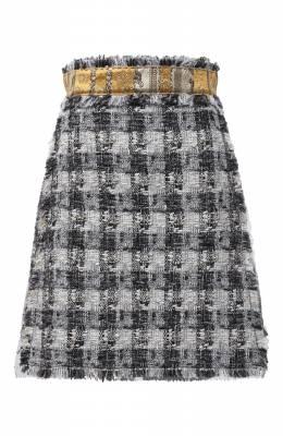 Твидовая юбка Dolce&Gabbana J4027T/FQMHE