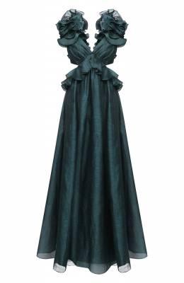 Платье из льна и шелка Zimmermann 9390DLAD
