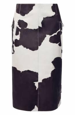 Кожаная юбка Off-White 0WJC007F20LEA0016145
