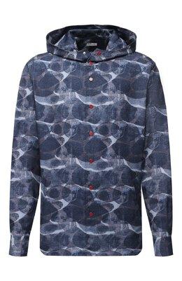 Хлопковая рубашка Kiton UMCMARH0748301/45-50