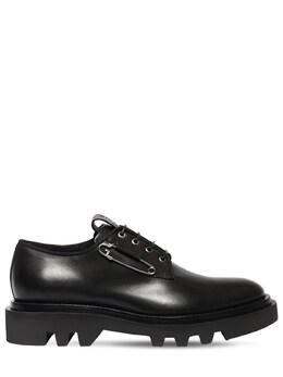 Кожаные Ботинки На Шнуровке 30mm Givenchy 72ILE1002-MDAx0
