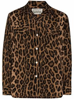 Wacko Maria рубашка с леопардовым принтом 20FWWMSHI03