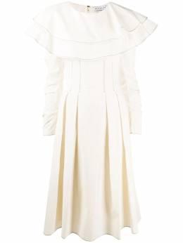 Rejina Pyo драпированное платье миди с контрастной строчкой F305