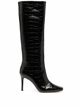 L'Autre Chose crocodile-effect knee-high boots OSM14685WP3028