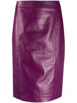 Saint Laurent юбка-карандаш с завышенной талией 635199YC2ZZ