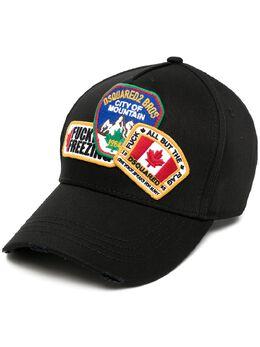 Dsquared2 кепка с нашивкой-логотипом BCM038505C00001