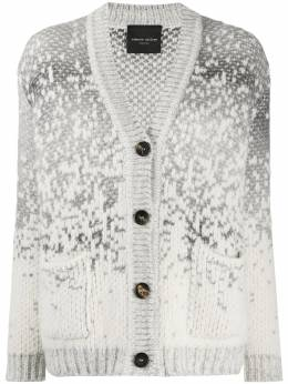 Roberto Collina speckle knit chunky cardigan D45010
