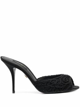 Dolce&Gabbana embroidered open-back sandals CR1133AX385