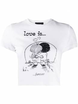 Dsquared2 cropped illustration-print T-shirt S72GD0255S22507