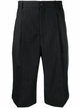 Salvatore Ferragamo полосатые шорты строгого кроя 738459