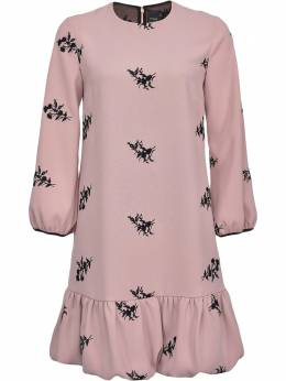 Pinko floral-embroidered ruffled dress 1N12XH8476NZ8