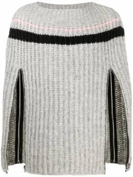 Raf Simons zip-up sleeve knitted jumper 20282050007