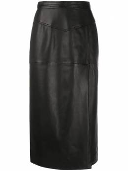 Red Valentino leather pencil skirt UR0NI00U5HN