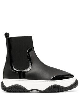 No. 21 высокие кроссовки с трикотажной вставкой 20ISM01050105