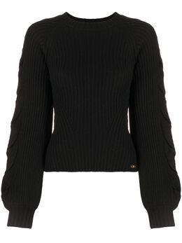 Elisabetta Franchi cable knit cropped jumper MK96B07E2