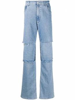 Raf Simons patchwork bootcut jeans 20232310133