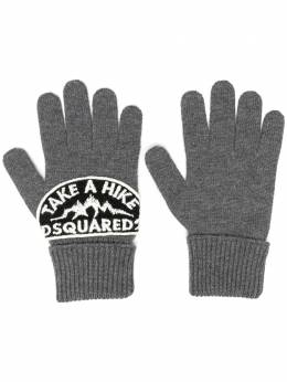 Dsquared2 logo-patch gloves KNM001401W03533