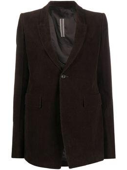 Rick Owens corduroy single-breasted blazer RP20F2751CW