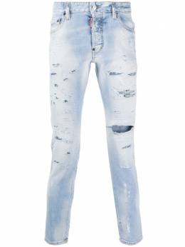 Dsquared2 bleach wash distressed jeans S71LB0809S30665
