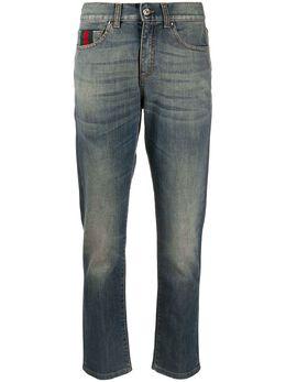 Gucci укороченные джинсы с отделкой Web 258609XZ486
