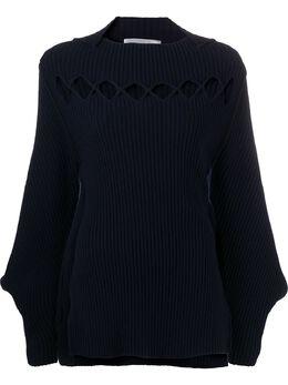Victoria Beckham джемпер с вырезами и рукавами бишоп 1420KJU001897A