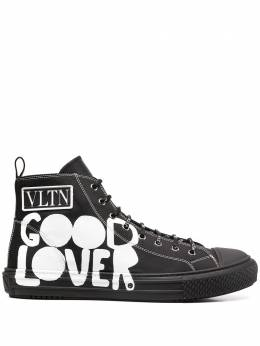 Valentino printed high-top sneakers UY0S0D51SPU