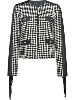 Pinko houndstooth tweed jacket 1N130A8298ZZ1