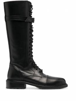 Ann Demeulemeester knee-high lace-up boots 20142800390099