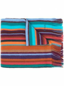 Paul Smith striped fringe scarf M1A422FES10