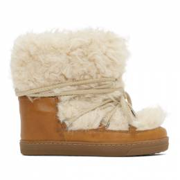 Isabel Marant Brown Grizzly Nowles Ankle Boots 20ABO00277-20A050S