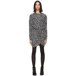 Isabel Marant Etoile Black and Grey Selwyn Dress 20ARO1714-20A044E