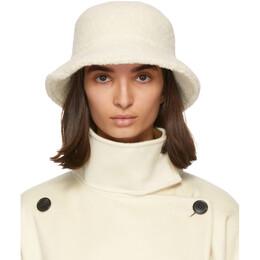 Isabel Marant Off-White Alpaca Denji Bucket Hat 20HCU0035-20H004A