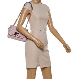 Michael Kors Powder Pink Perforated Leather Hannah Shoulder Bag 347151