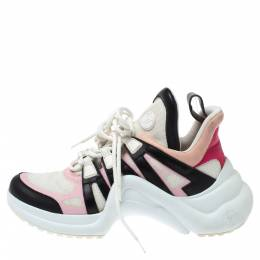 Louis Vuitton Multicolor Leather and Mesh LV Archlight Sneakers Size 39 347599