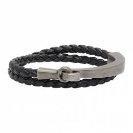 Saint Laurent Black Braided Bracelet 635062BL40D