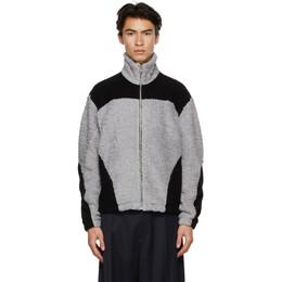 Gmbh Grey and Black Fleece Two-Tone Jacket KOL