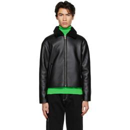 Rassvet Black Faux-Leather Jacket PACC7J003