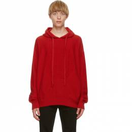 Versace Red Cashmere Medusa Hoodie A87203 A235893