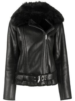 Patrizia Pepe байкерская куртка из шерпы 2L0879A5T8