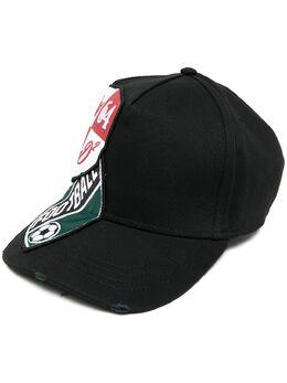 Dsquared2 кепка с нашивкой-логотипом BCM034705C00001