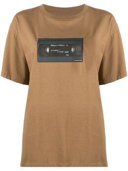 Mm6 Maison Margiela футболка с графичным принтом S32GC0580S23588