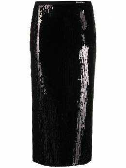 Red Valentino sequin embroidered pencil skirt UR0MD01F5HW