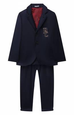 Шерстяной костюм Brunello Cucinelli BE226A108C