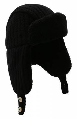 Шерстяная шапка-ушанка с меховой подкладкой Inverni 4281CTM.