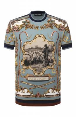 Хлопковая футболка Dolce&Gabbana G8KC0T/HI7EY